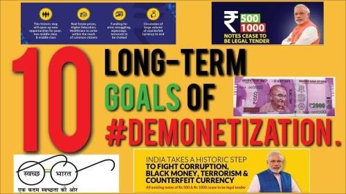10 long term goals of demonetization