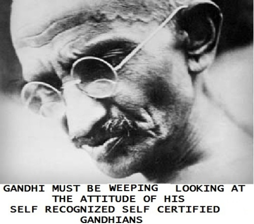 SELF CERFIED GANDHIAN
